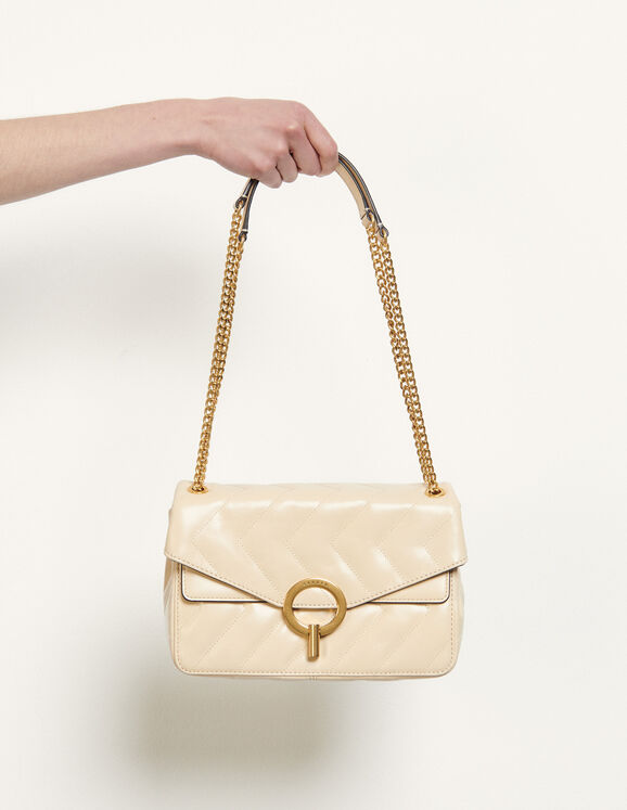Sandro Yza quilted leather bag