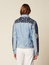Denim Jacket With Printed Insets : Coats & Jackets color Blue Vintage - Denim