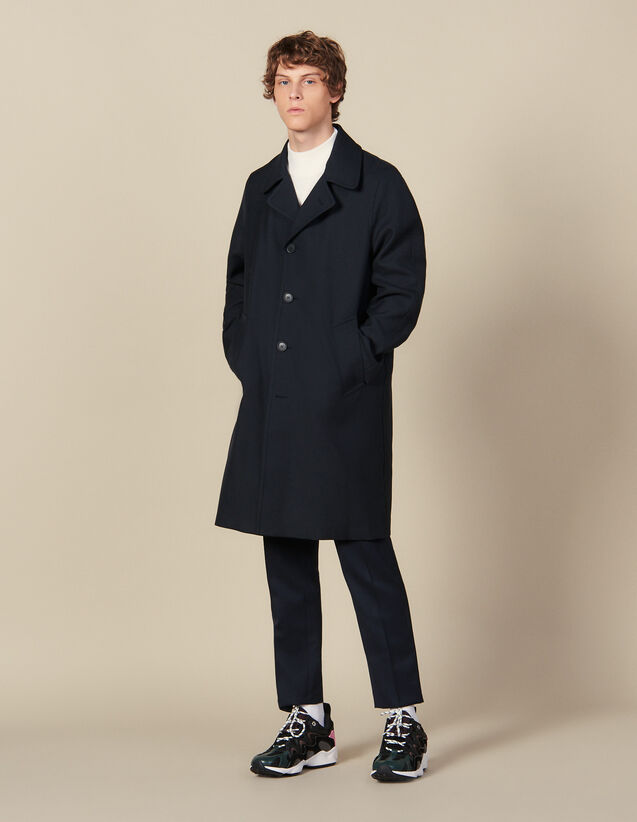 Town Coat : Coats color Navy Blue
