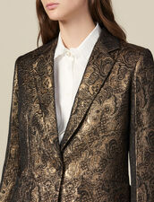 Brocade tailored jacket : Jackets color Gold