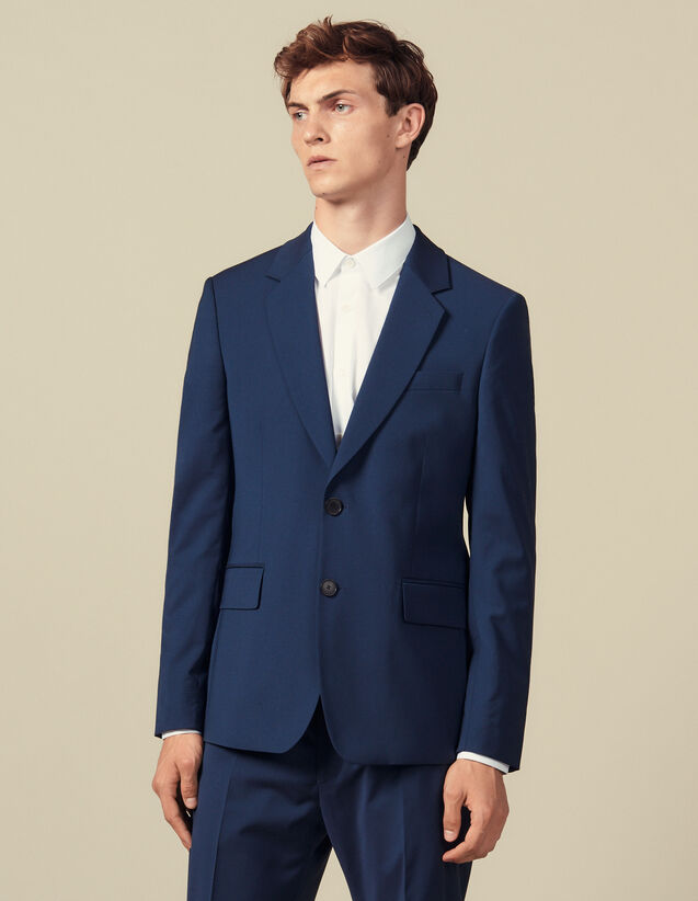 Classic Super 110 Suit Jacket : Suits & Blazers color Petrol