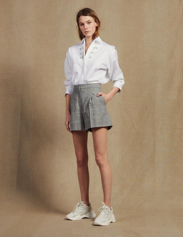 Checked Shorts : Pants & Shorts color Grey