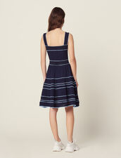 Pointelle Knit Dress With Straps : Dresses color Navy Blue