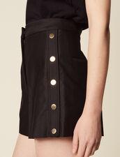 Shorts With Press Studs : Pants & Shorts color Black