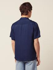 Floaty Short-Sleeved Shirt : Shirts color Blue