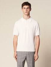 Fine Knit Polo Shirt With Short Sleeves : T-shirts & Polos color Ecru
