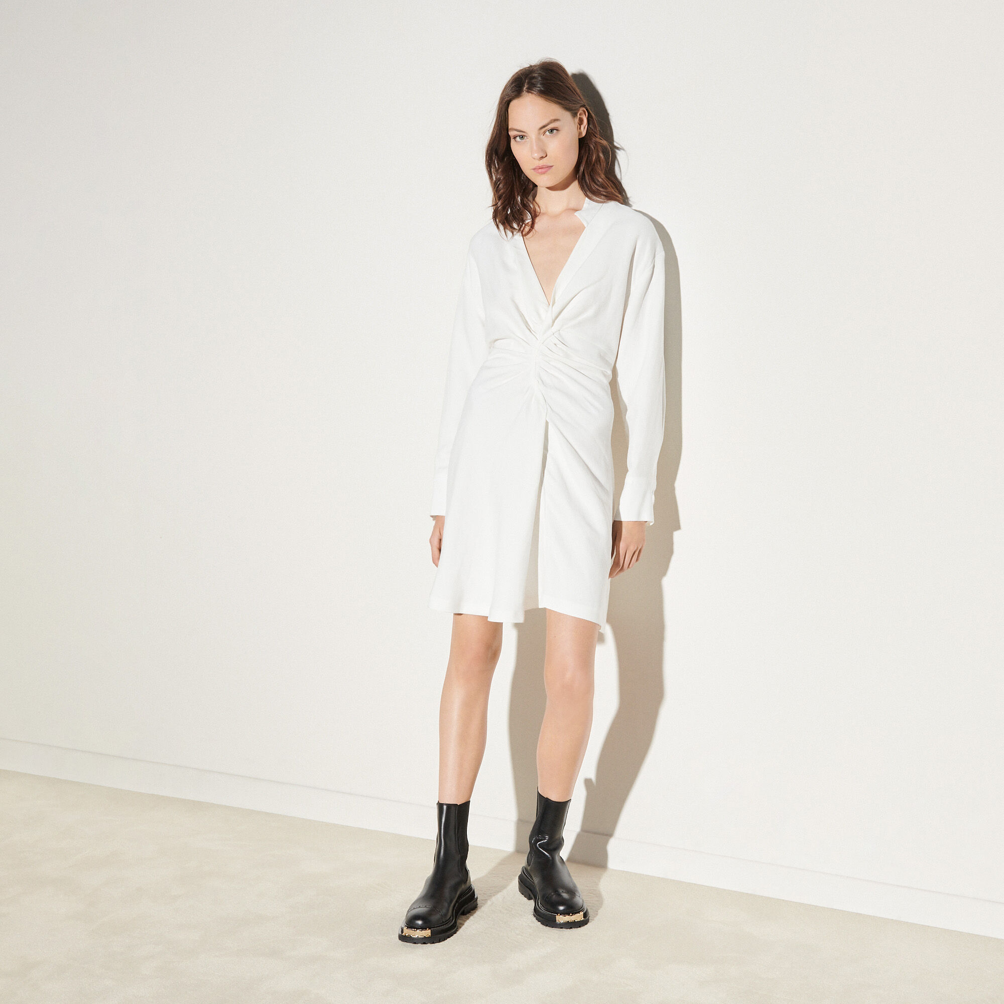 Sandro Long-sleeved short dress