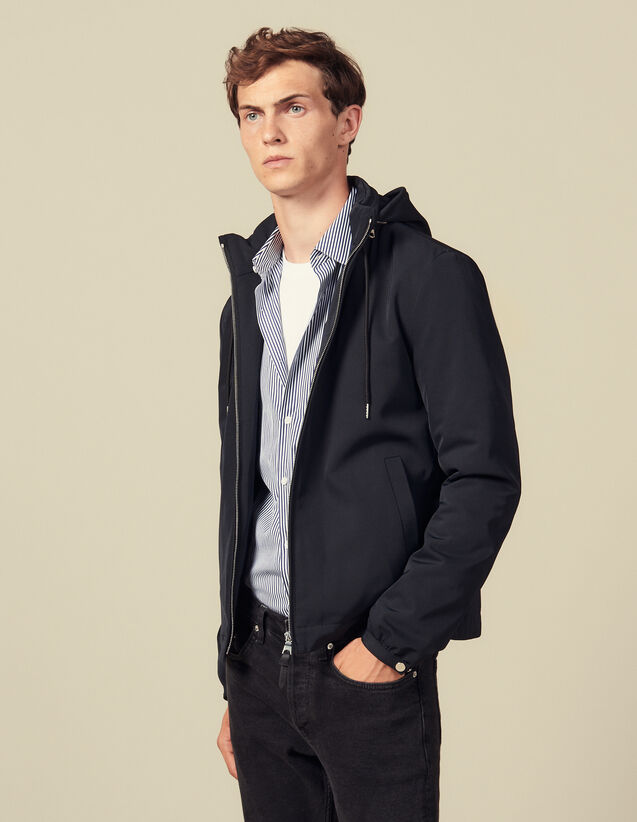 Hooded jacket : Jackets color Navy Blue