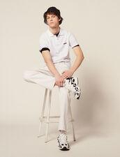 Cotton Piqué Polo Shirt : T-shirts & Polos color white