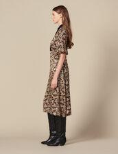 All Over Printed Midi Dress : Dresses color Black