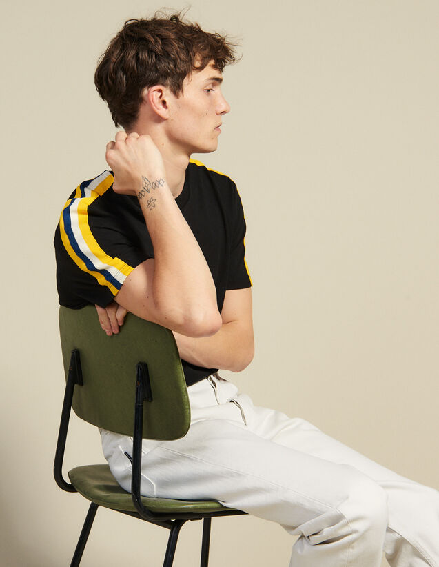 Athletic T-Shirt : T-shirts & Polos color Black