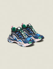 Astro Sneakers With Graphic Soles : Shoes color Azur blue