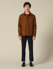 Woolcloth jacket : Jackets color Camel