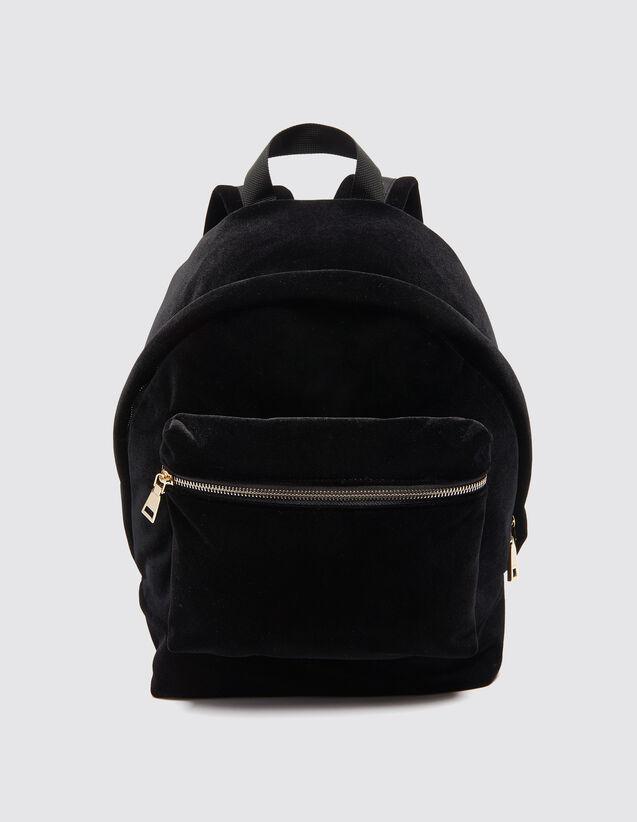 Items Viewed Velvet Backpack Bags Color Black