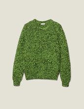 Mottled Sweater : Sweaters color Vert/Noir