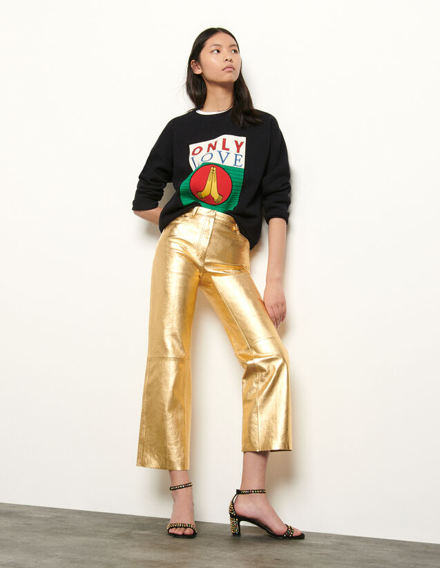 Metallic leather pants : Spring Pre-Collection color Gold