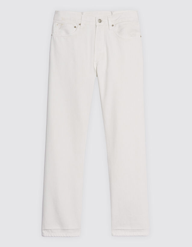 Straight-Cut White Jeans : Jeans color white