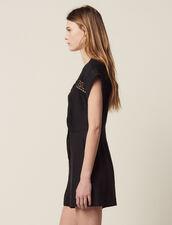 Sleeveless Playsuit : Pants & Shorts color Black