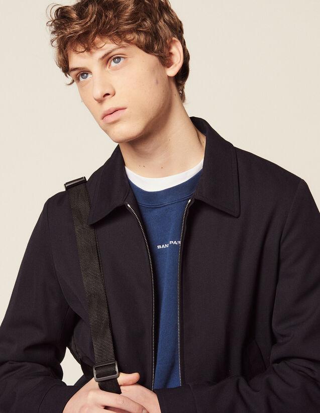 Harrington-Style Jacket : Coats & Jackets color Navy Blue