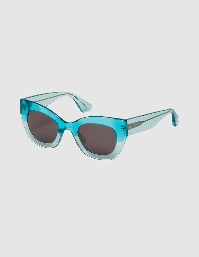 Oversized Sunglasses : Sunglasses color Noir/Ecaille