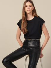 Loose-fit T-shirt with tabs : Tops & Shirts color Black
