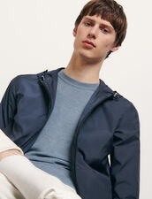 Technical jacket with hood : Jackets color Navy Blue