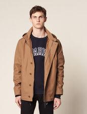 Cotton Deckjacket : Coats & Jackets color Navy Blue