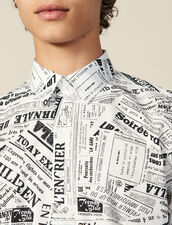 Newspaper Print Shirt : Shirts color White And Black