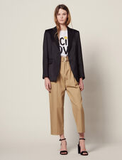 Matching Satin Tailored Jacket : Jackets color Black