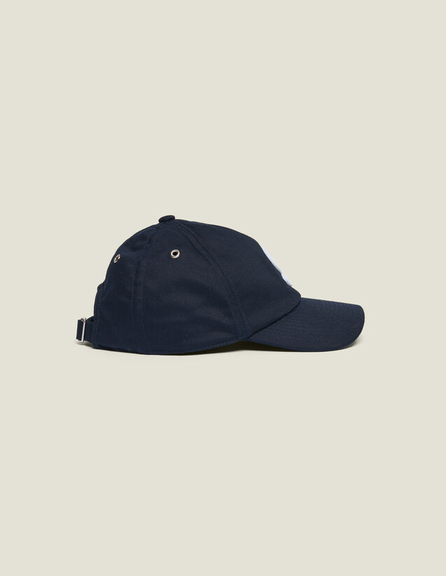 Cap With S Patch : Hats color Navy Blue