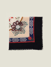 Printed Wool Scarf : Other Accessories color Multi-Color