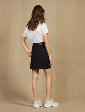 Short Denim Skirt : Skirts color Black