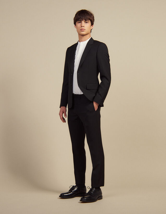 Wool Suit Pants : Suits & Blazers color Black