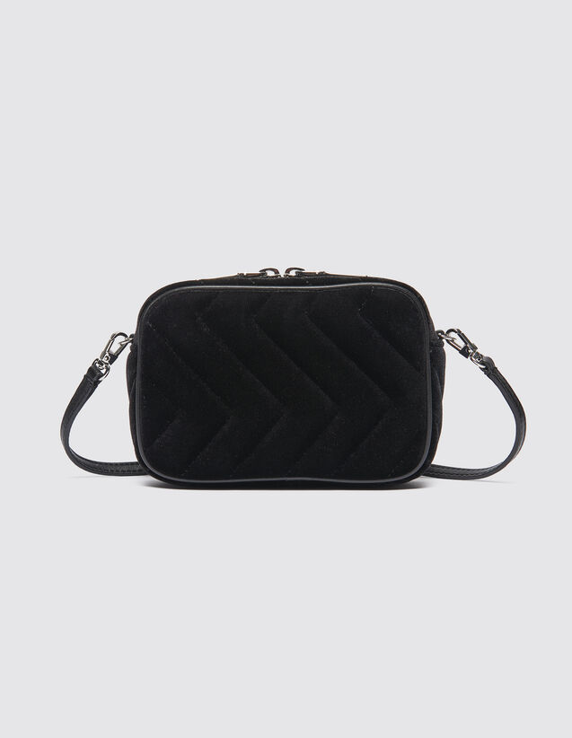 Quilted Velvet Fanny Pack : Bags color Black