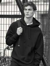Cotton Hoodie : Sweatshirts color Black