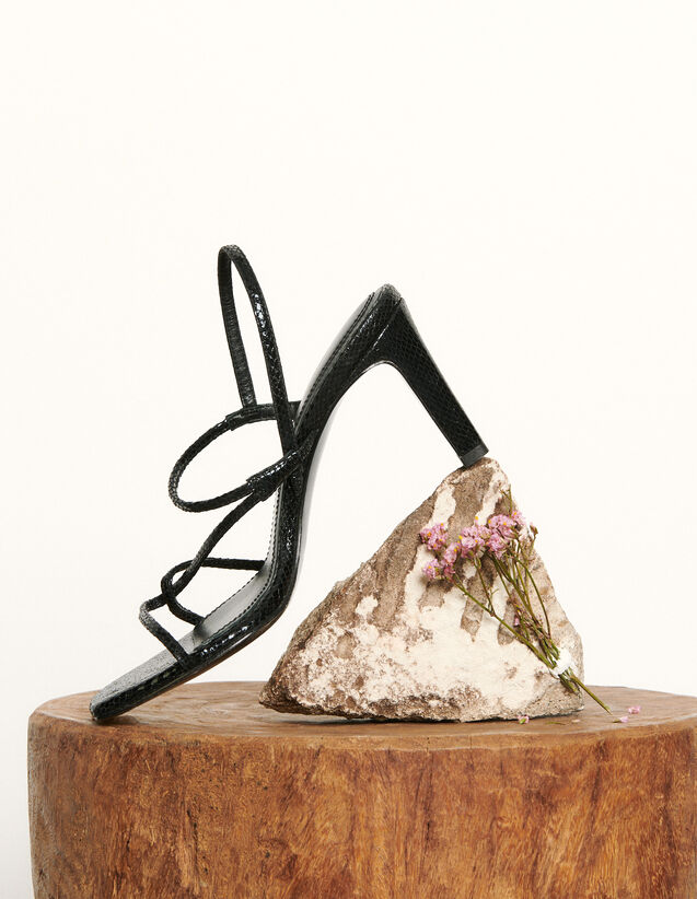 Sandals with narrow straps : Spring Pre-Collection color Black