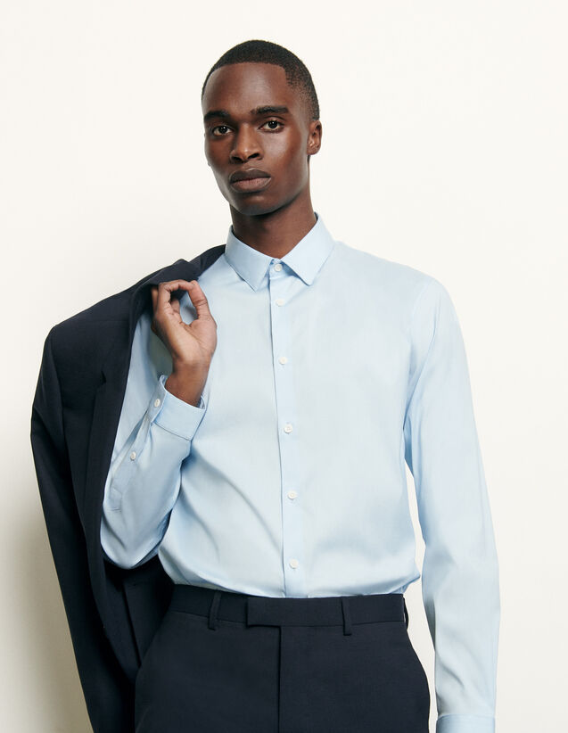 Slim-fit classic shirt : Spring Pre-Collection color Sky Blue