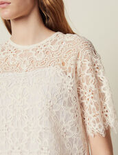 Matching Lace Cropped Top : Tops & Shirts color Nude