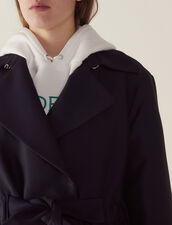 Trench-Style Coat : Coats color Navy Blue