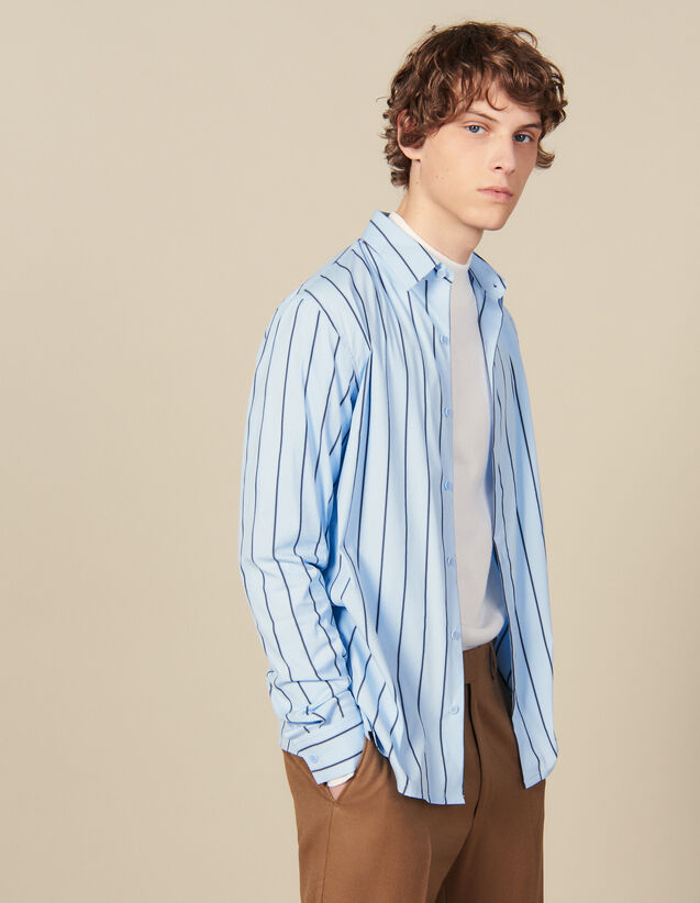 Striped Shirt : Shirts color BLUE / BLACK