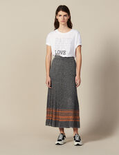 Lurex Knit Midi Skirt : Skirts color Silver