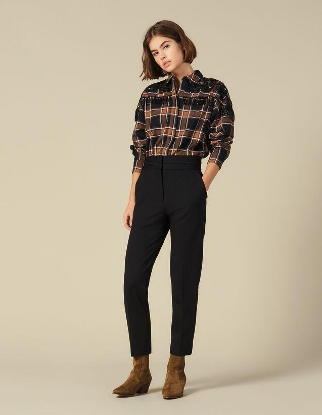High-Waisted Classic Pants : Pants & Shorts color Black