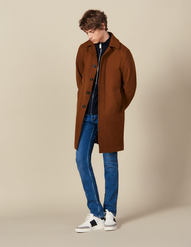 Oversized Town Coat : Coats color Camel