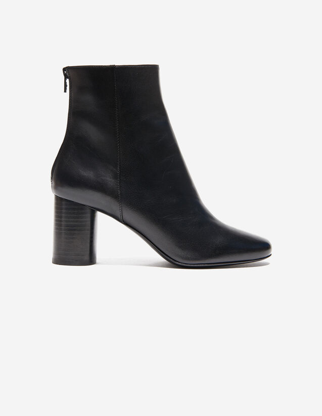 Leather Ankle Boot : Shoes color Black