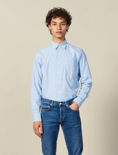 Striped Shirt With Breast Pocket : Shirts color Blue/white