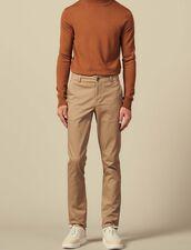 Cotton Chinos : Pants color Beige