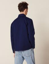 Faded Cotton Workwear Jacket : Coats & Jackets color Blue