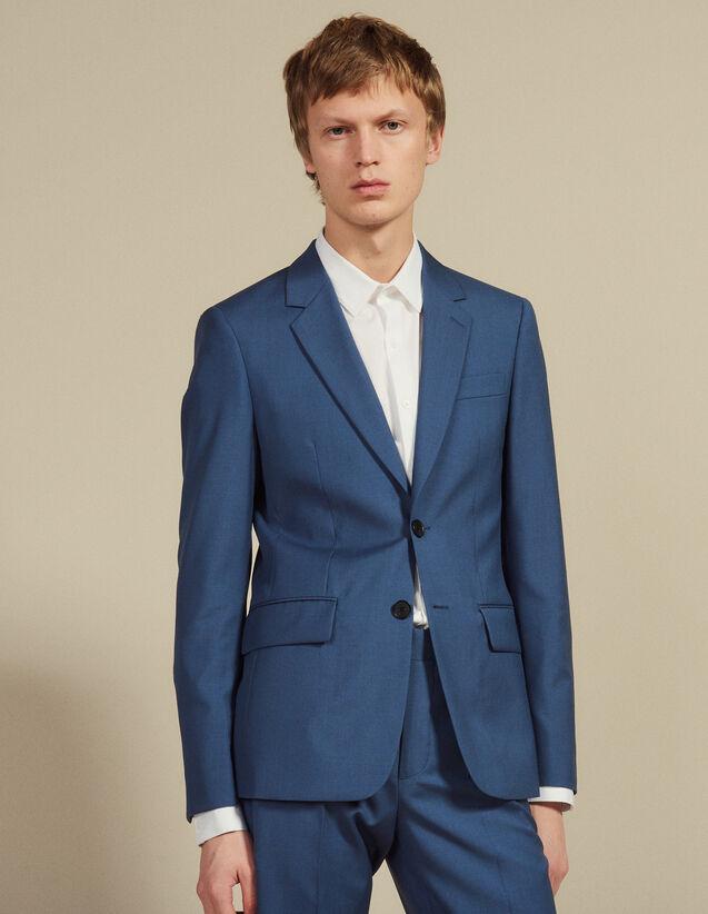 Wool Suit Jacket : Suits & Blazers color Bluish Grey