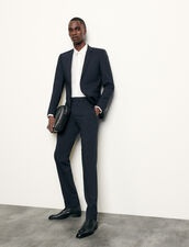 Classic wool suit pants : Suits & Blazers color Navy Blue