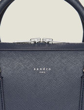 Saffiano Leather Briefcase : Bags color Navy Blue